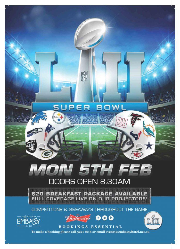 NFL Super Bowl Brisbane 2018